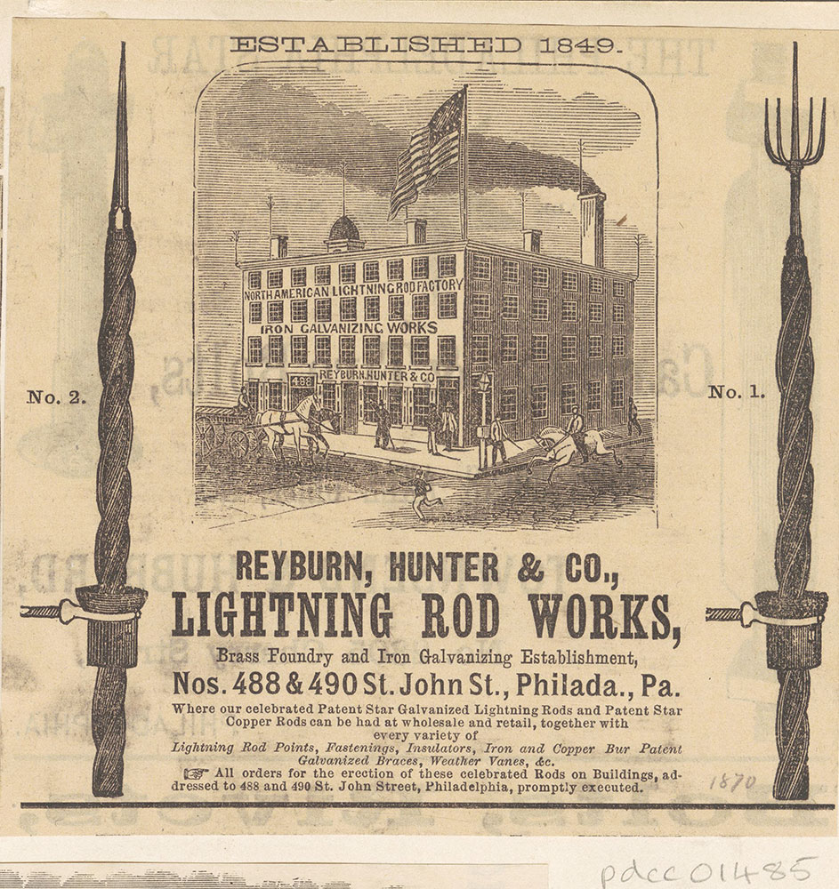 Reyburn, Hunter & Co., Lightning Rod Works. [graphic]