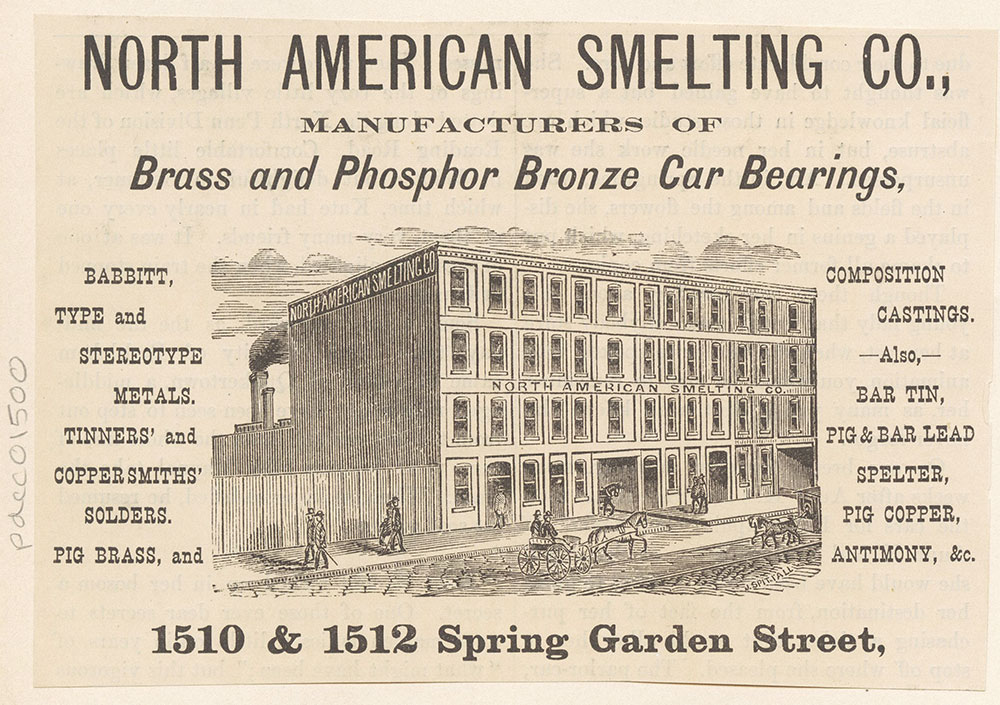 North American Smelting Co., Brass and Phosphor Bronze Car Bearings, etc [graphic]
