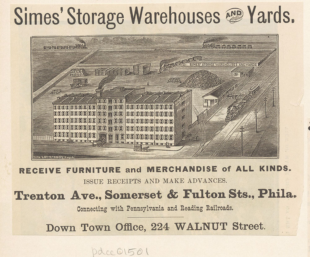 Simes' Storage Warehouses and Yards. [graphic]