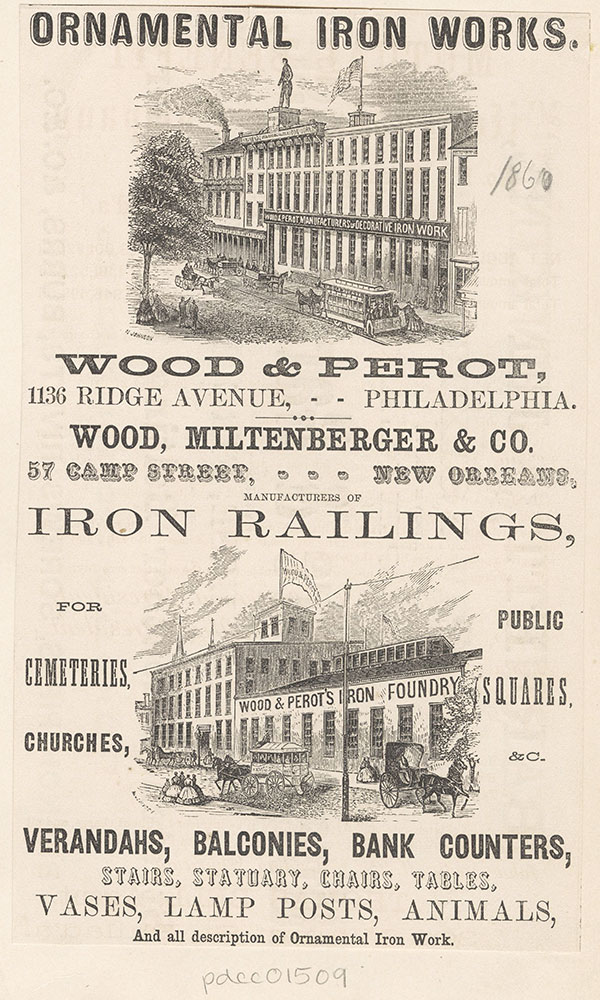 Wood & Perot, ornamental iron works. [graphic]