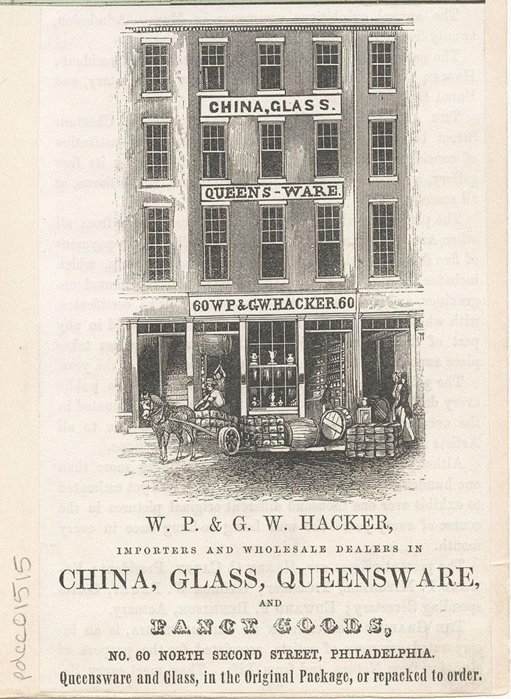 W. P. & G. Hacker, china, glass, queensware. [graphic]