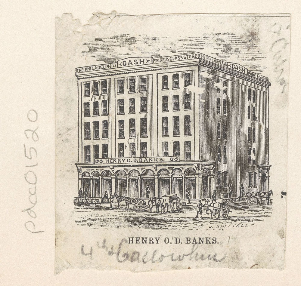 Henry O. D. Banks [The Philadelphia Cash Plate and Glass Store] [graphic]