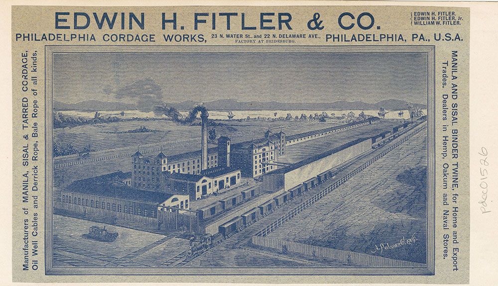 Edwin H. Fitler & Co. Philadelphia Cordage Works [graphic]