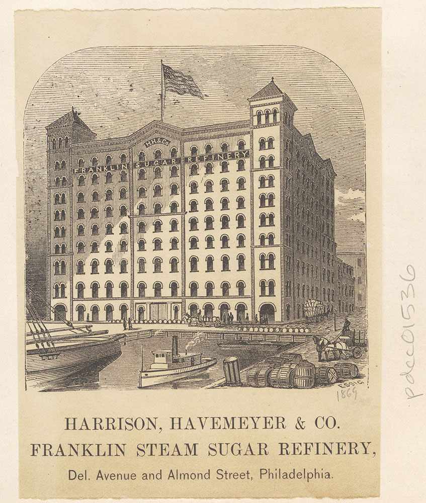 Harrison, Havemeyer & Co. Franklin Steam Sugar Refinery, Del. Avenue and Almond Street [graphic]
