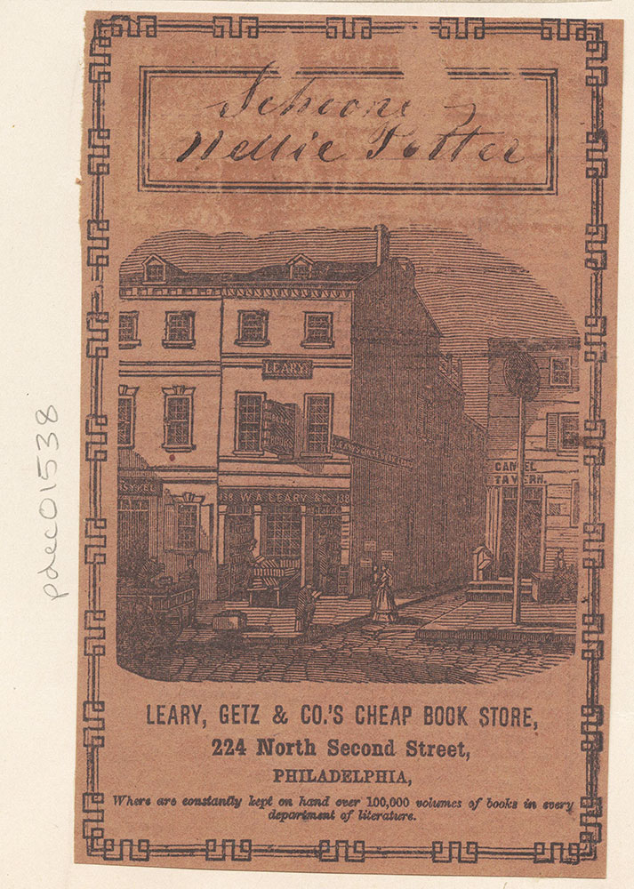Leary, Getz & Co.'s Cheap Book Store, 224 North Second Street [graphic]