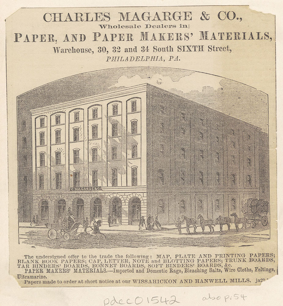 Charles Magarge & Co., Wholesale Dealers in Paper and Paper Makers' Material [graphic]
