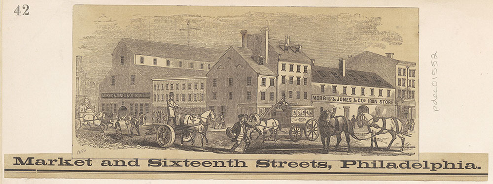 [Morris & Jones & Cos. Iron Store Market and Sixteenth Street.] [graphic]