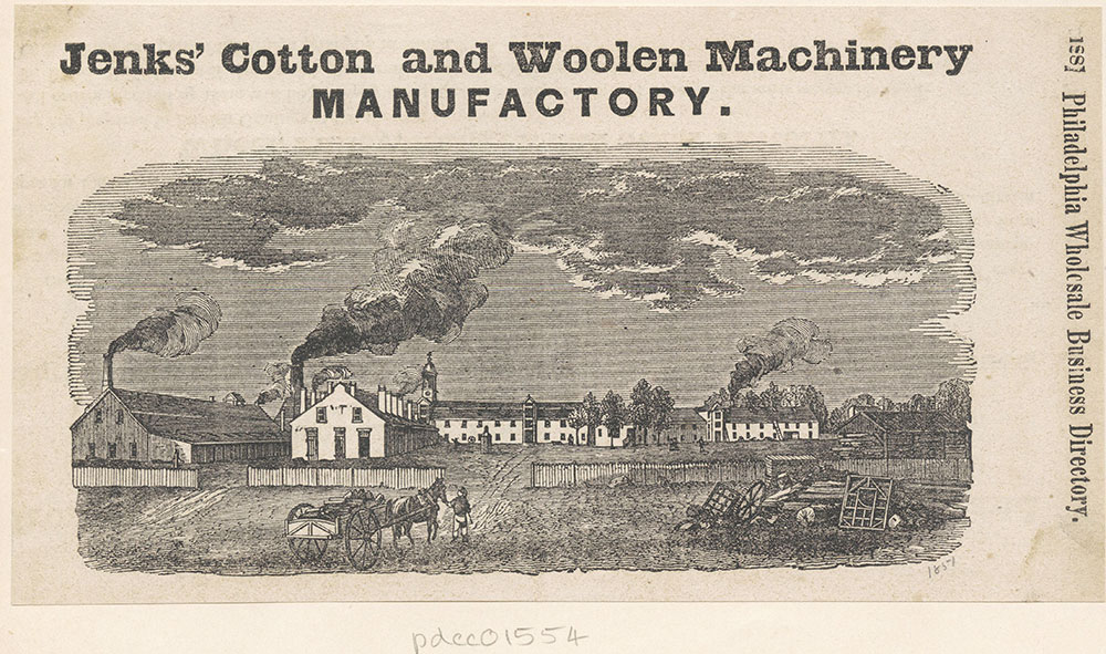 Jenk's Cotton and Woolen Machinery Manufactory [graphic]