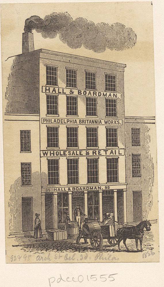 [Hall & Boardman. Philadelphia Britannia Works] [graphic]