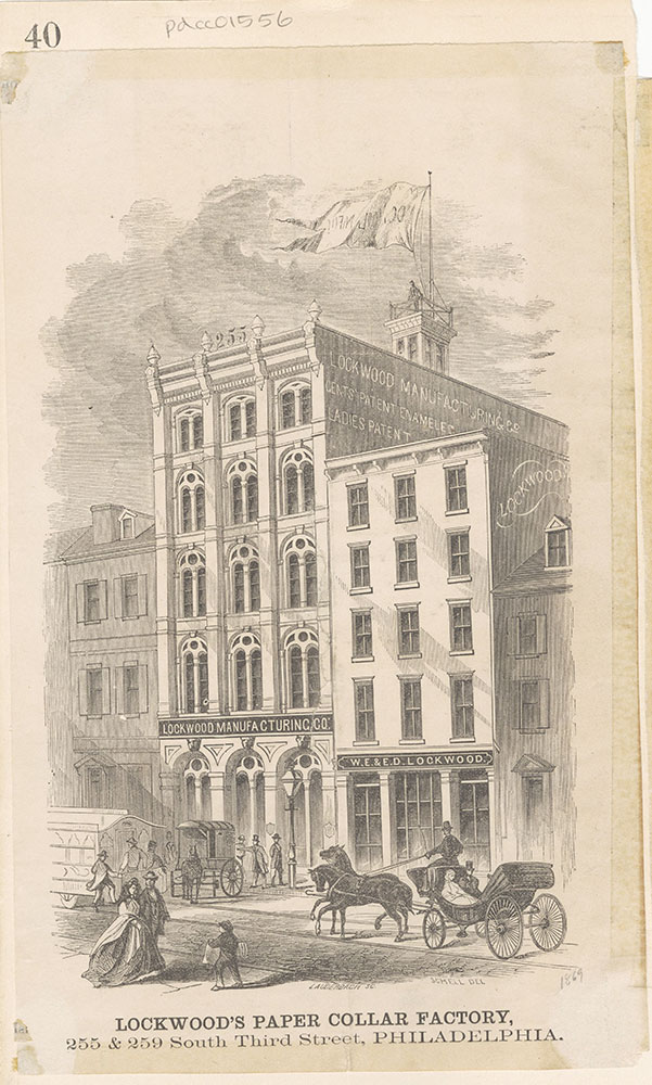 Lockwood's Paper Collar Factory, 255 & 259 South Third Street [graphic]