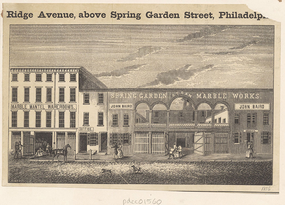 [Spring Garden Steam Marble Works. John Baird.] [graphic]