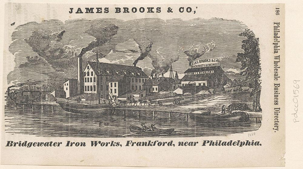 James Brooks & Co., Bridgewater Iron Works, Frankford, near Philadelphia [graphic]