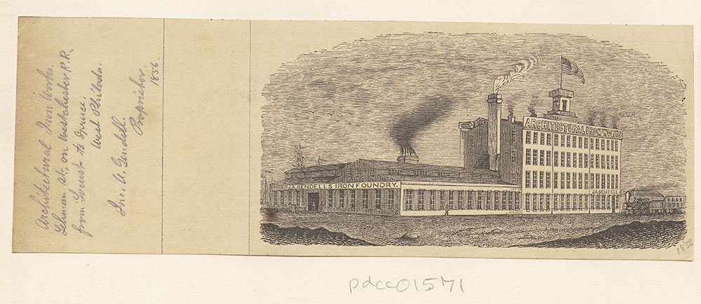 [Architectural Iron Works, J. A. Gendell's Iron Foundry] [graphic]
