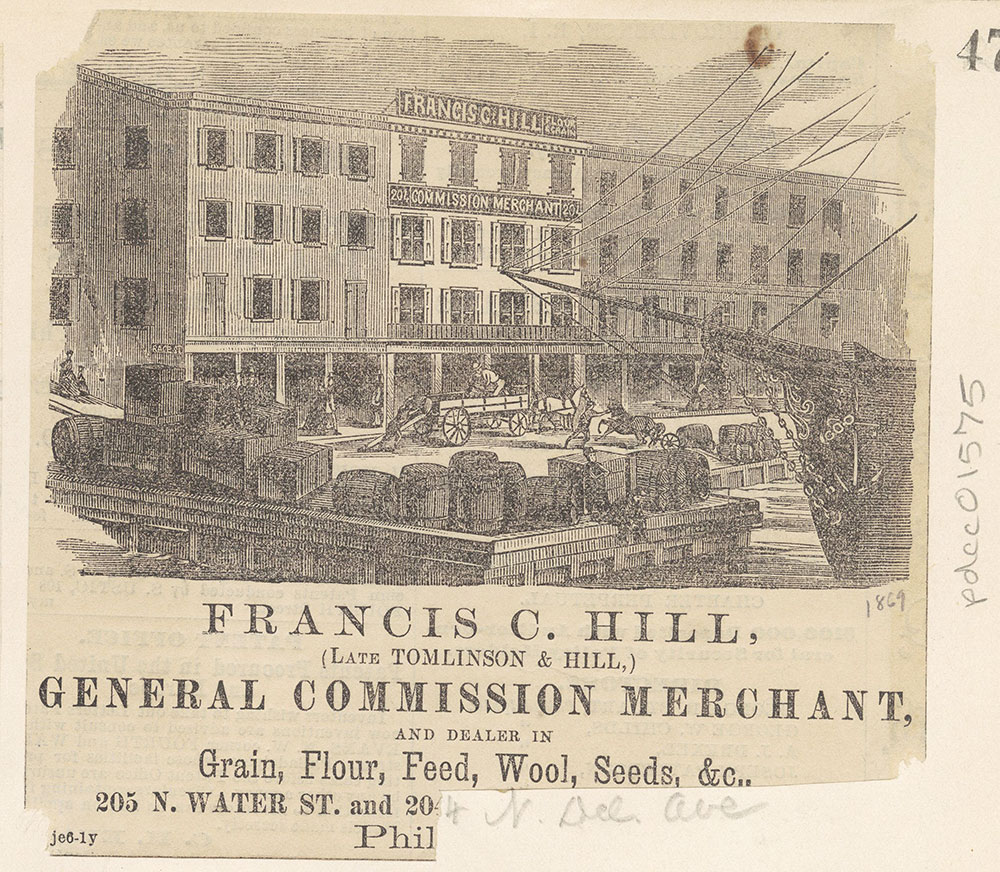 Francis C. Hill, General Commission Merchant, and dealer in grain, flour, feed, etc.. [graphic]