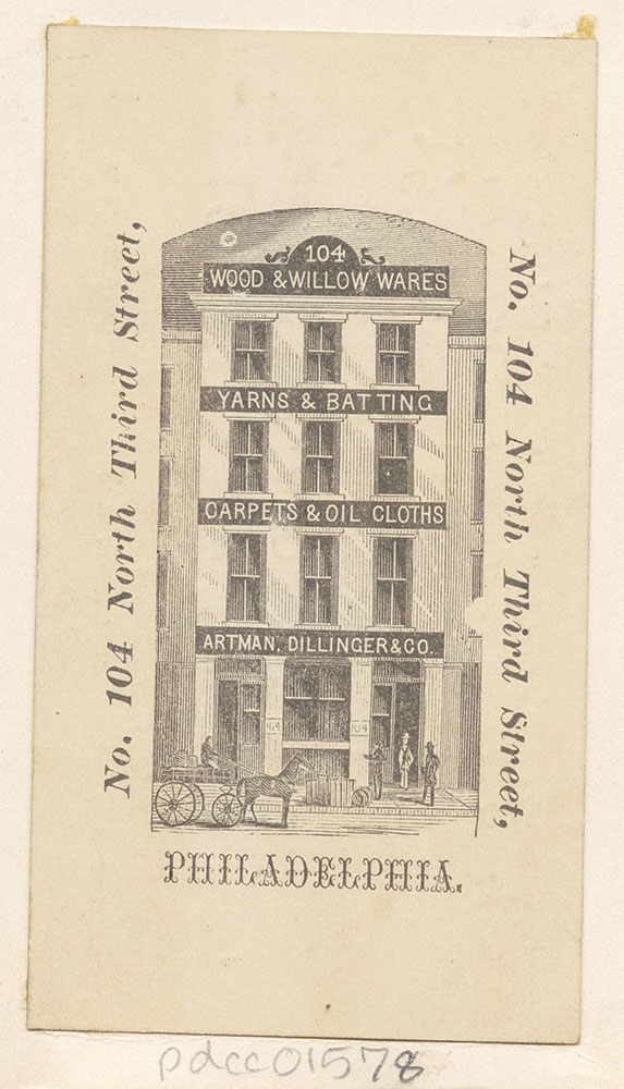 [Artman, Dillinger & Co., wood & willow wares, yarns & batting..etc] [graphic]