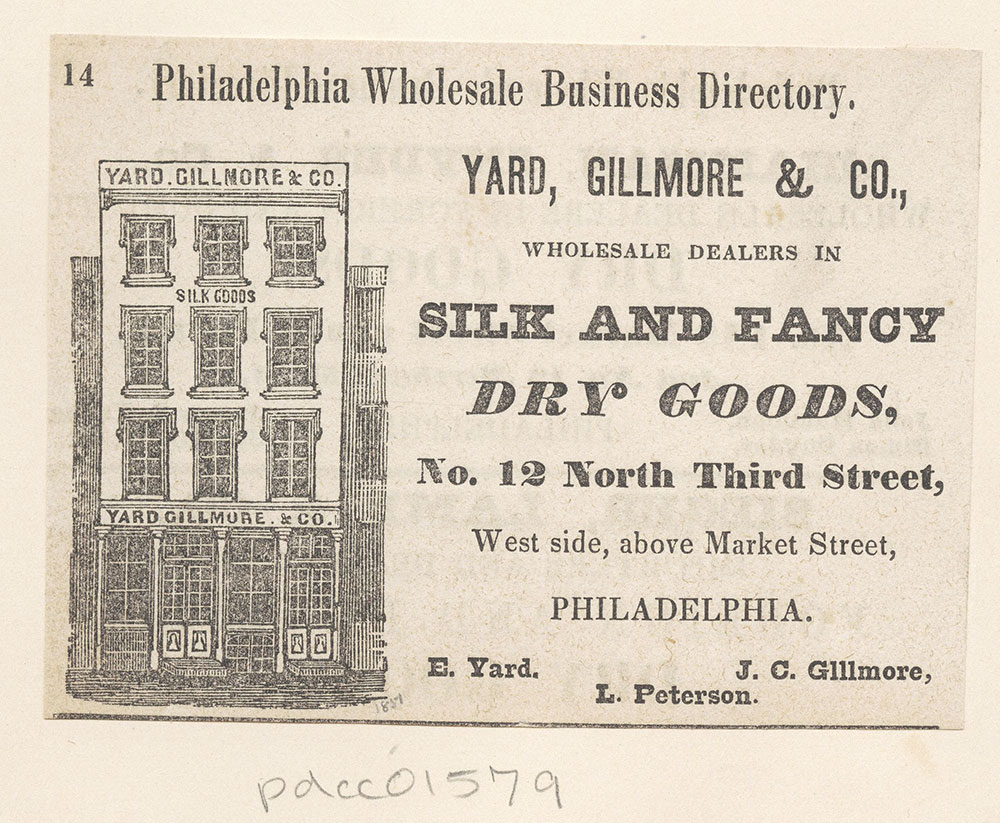 Yard, Gillmore & Co., wholesale dealers in silk and fancy dry goods [graphic]
