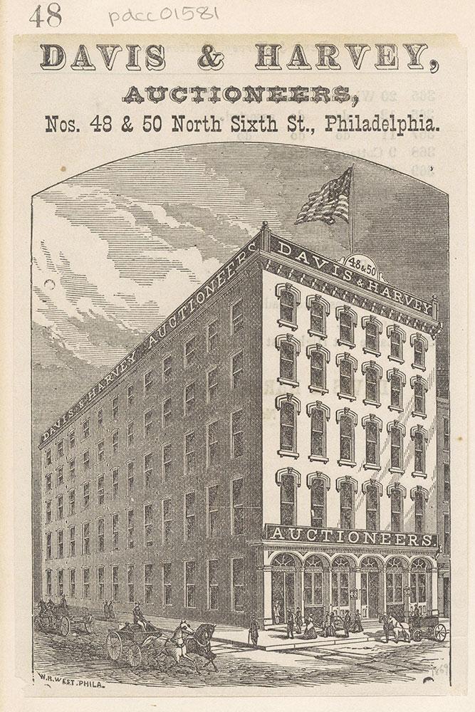 Davis & Harvey, auctioneers, Nos. 48 & 50 North Sixth St., Philadelphia [graphic]