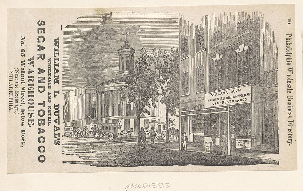 William L. Duval's Wholesale and Retail Segar and Tobacco Warehouse [graphic]
