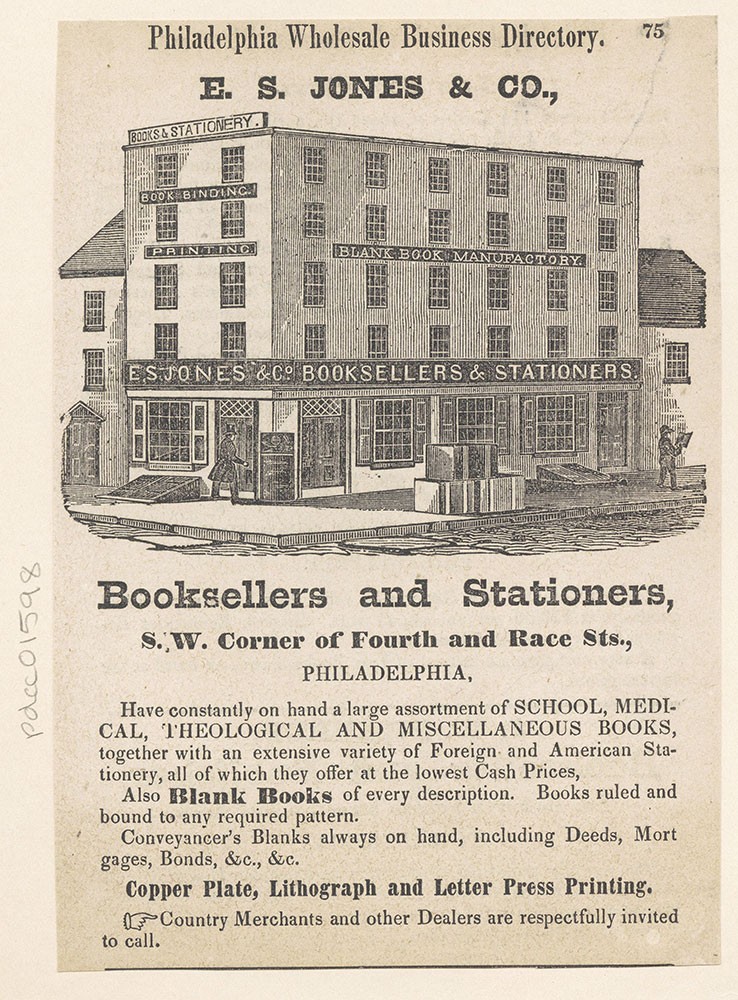 E. S. Jones & Co., Booksellers and Stationers
