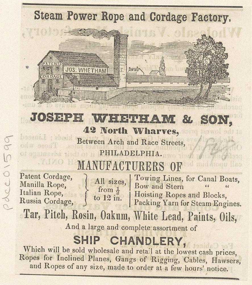 Joseph Whetham & Son
