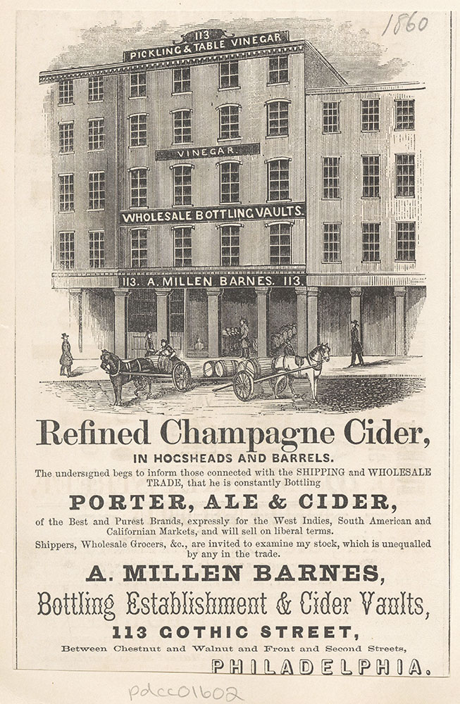 A. Millen Barnes. Bottling Establishment & Cider Vaults.