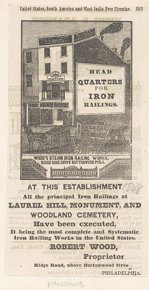 Wood's Steam Iron Railing Works