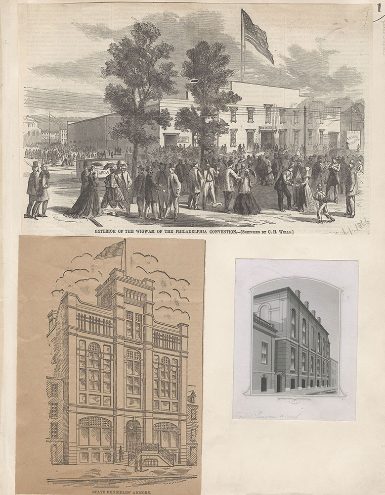 Castner Scrapbook v.15, Sundry Buildings 1, page 1