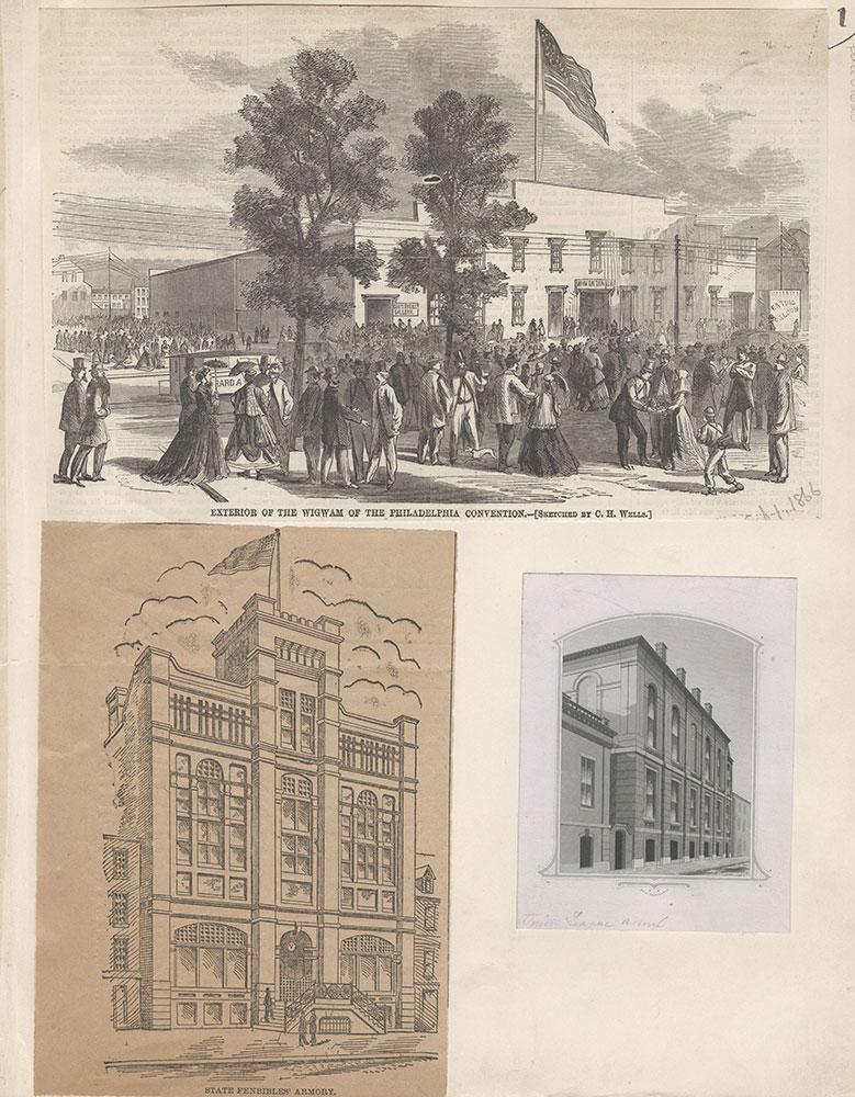 Castner Scrapbook v.15, Sundry Buildings 1, page 1