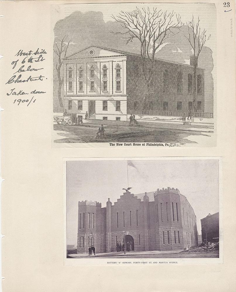 Castner Scrapbook v.15, Sundry Buildings 1, page 23