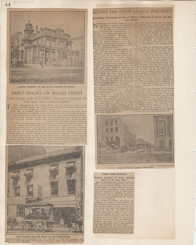 Castner Scrapbook v.15, Sundry Buildings 1, page 44
