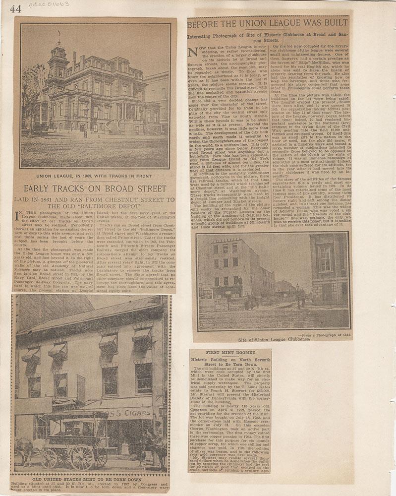 Castner Scrapbook v.15, Sundry Buildings 1, page 44