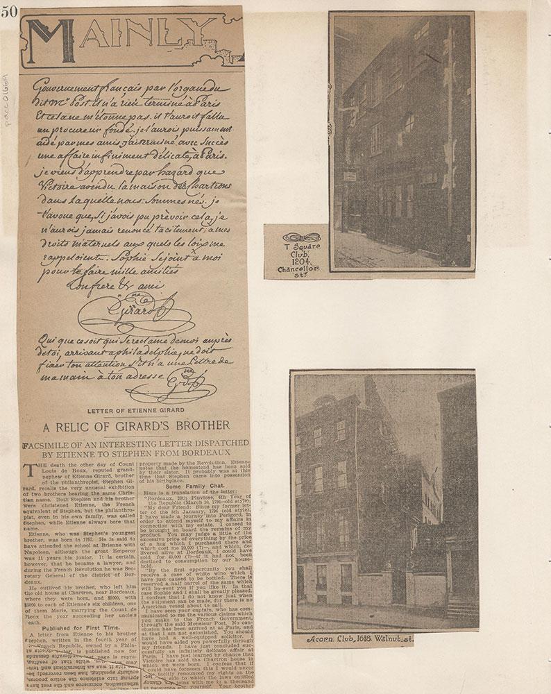 Castner Scrapbook v.15, Sundry Buildings 1, page 50