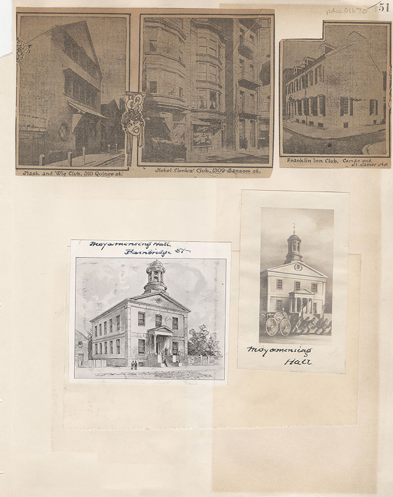Castner Scrapbook v.15, Sundry Buildings 1, page 51