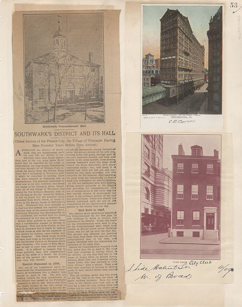 Castner Scrapbook v.15, Sundry Buildings 1, page 53