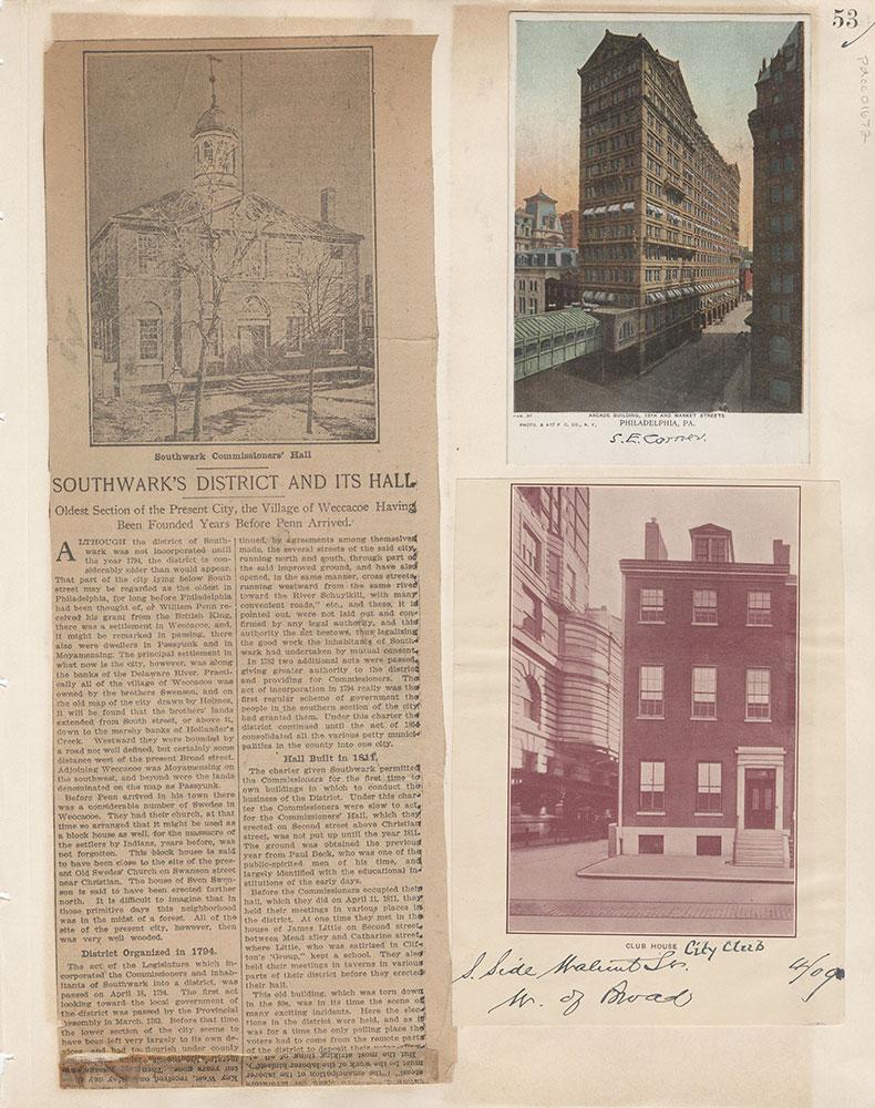 Castner Scrapbook v.15, Sundry Buildings 1, page 53