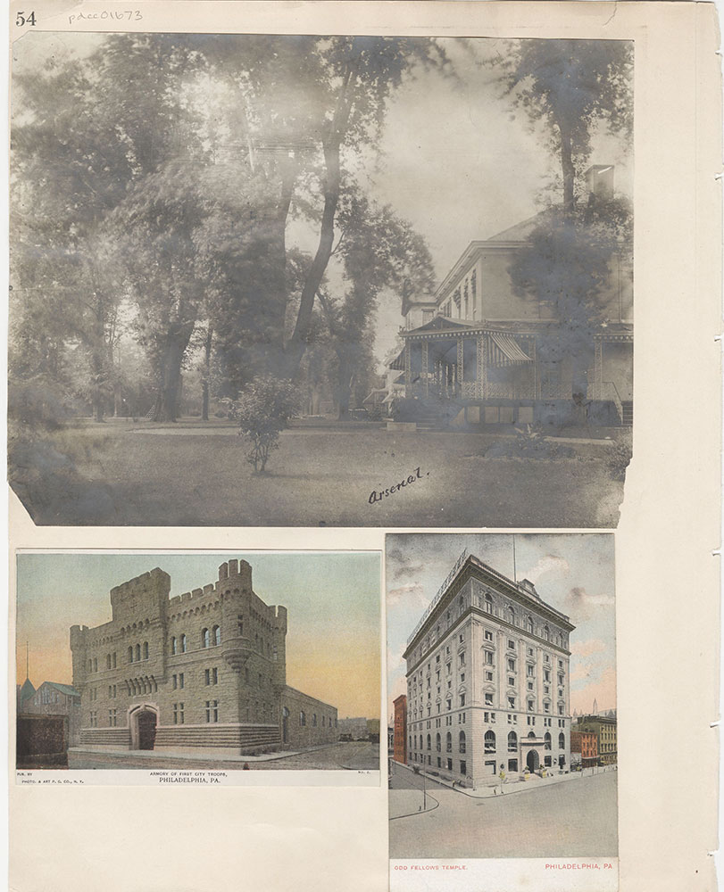 Castner Scrapbook v.15, Sundry Buildings 1, page 54