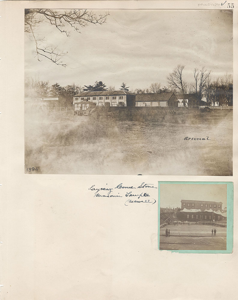Castner Scrapbook v.15, Sundry Buildings 1, page 55