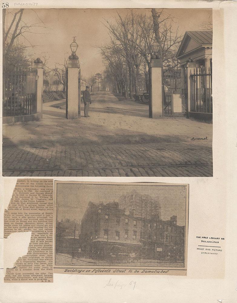 Castner Scrapbook v.15, Sundry Buildings 1, page 58