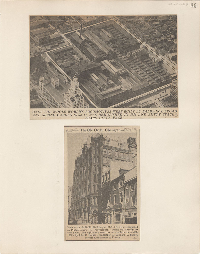 Castner Scrapbook v.15, Sundry Buildings 1, page 63