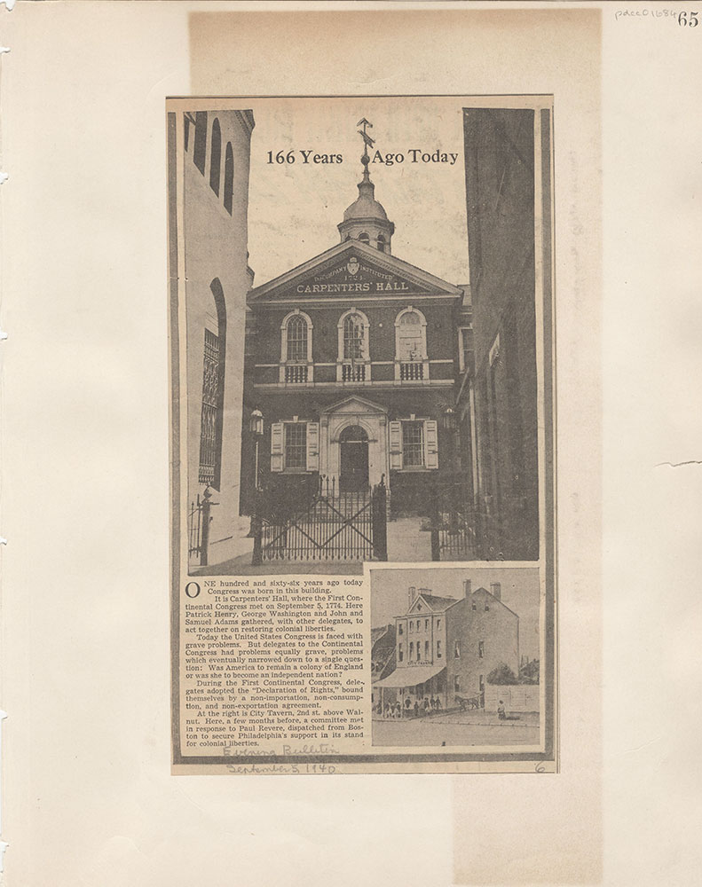 Castner Scrapbook v.15, Sundry Buildings 1, page 65
