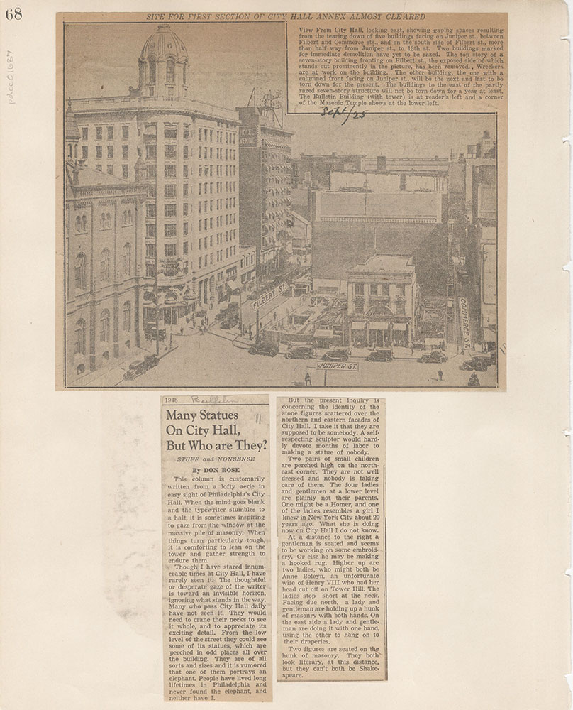 Castner Scrapbook v.15, Sundry Buildings 1, page 68
