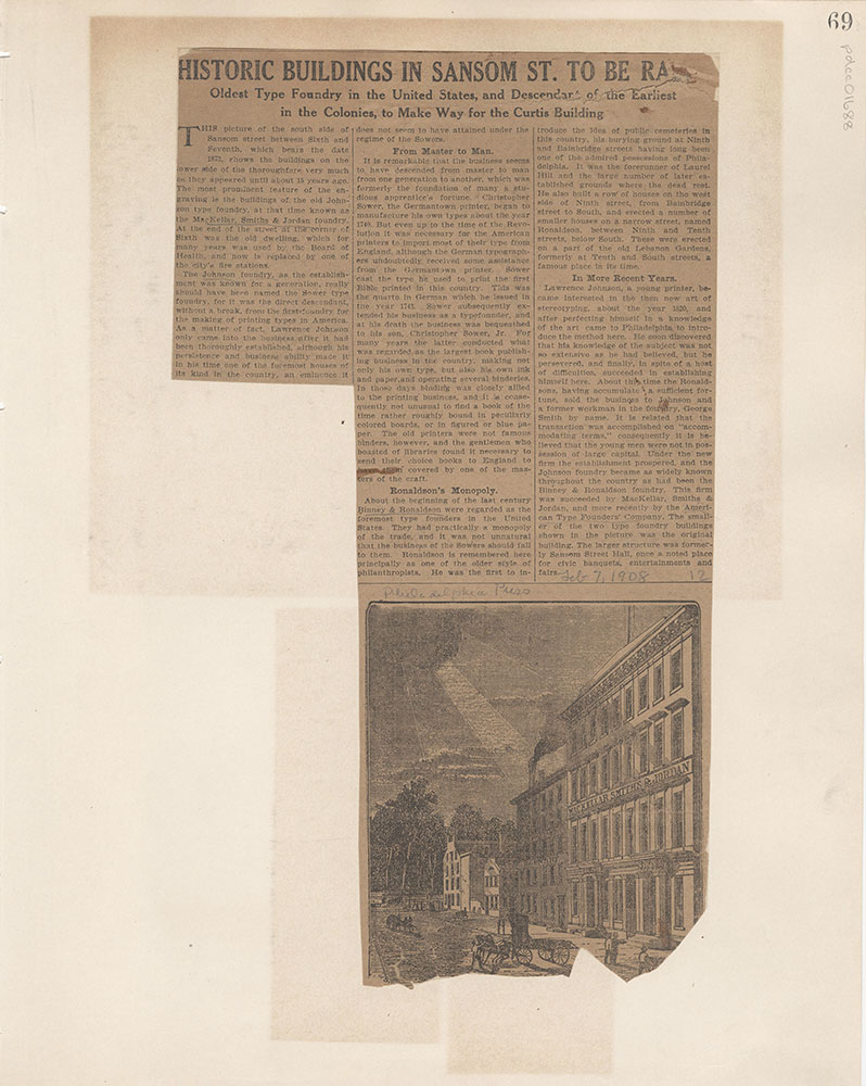 Castner Scrapbook v.15, Sundry Buildings 1, page 69