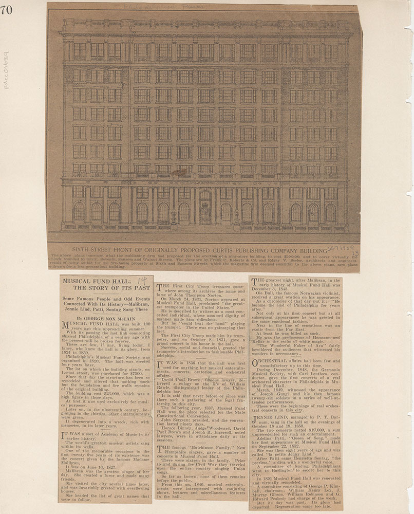 Castner Scrapbook v.15, Sundry Buildings 1, page 70