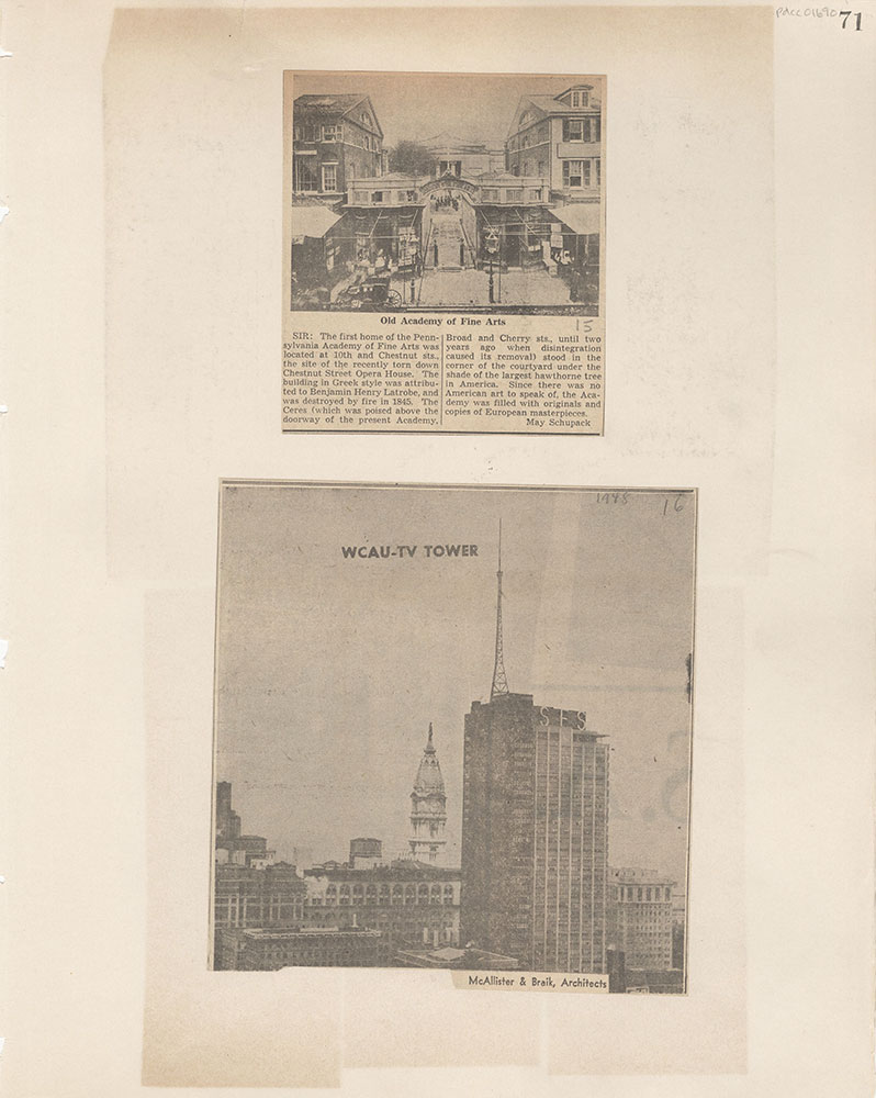 Castner Scrapbook v.15, Sundry Buildings 1, page 71