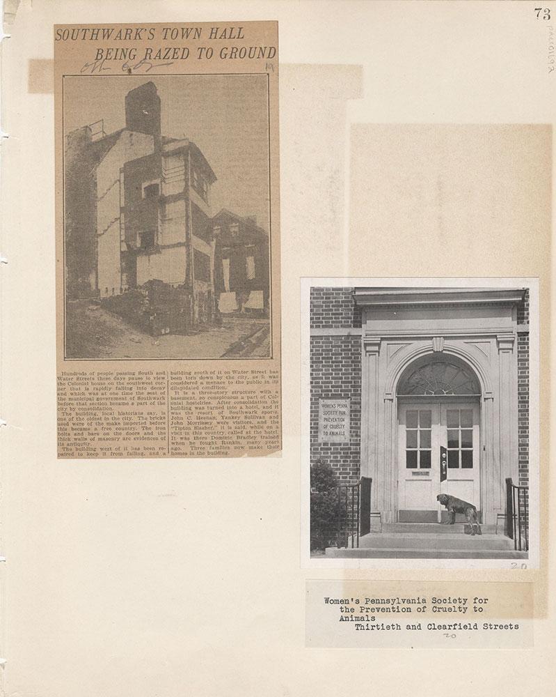 Castner Scrapbook v.15, Sundry Buildings 1, page 73