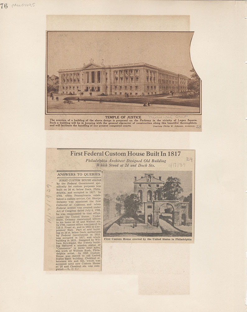 Castner Scrapbook v.15, Sundry Buildings 1, page 76