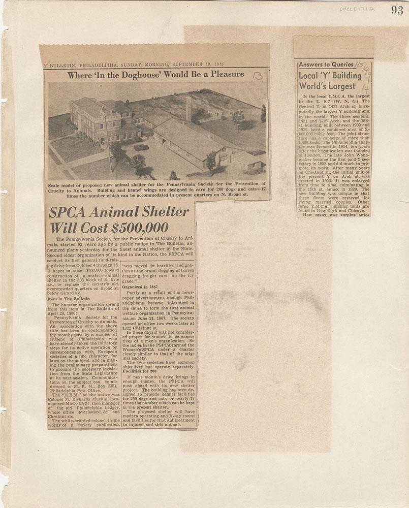 Castner Scrapbook v.15, Sundry Buildings 1, page 93