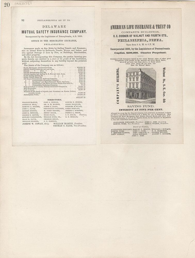 Castner Scrapbook v.16, Companies 1, page 20