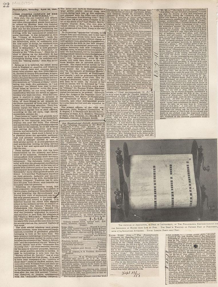 Castner Scrapbook v.16, Companies 1, page 22