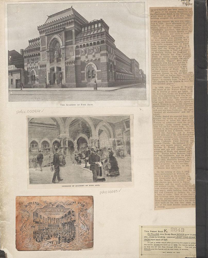 Castner Scrapbook v.2, Theatres, (inside front cover)